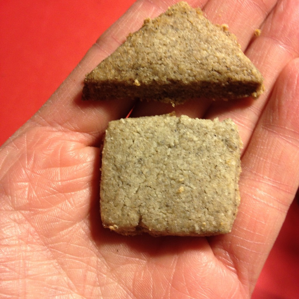 Purple Egyptian barley shortbreads make a house I want to live inside.