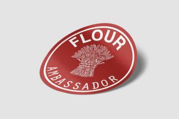 Flour Ambassador Sticker.